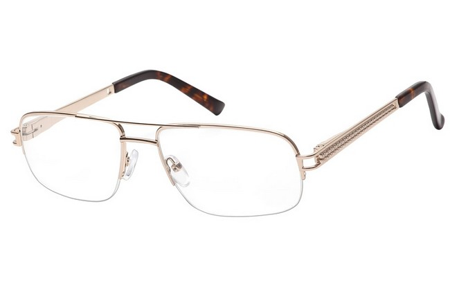 AVG gold metallic frame Aviator design with sprung arms