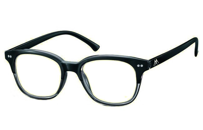 BL0 blue light filter black acetate frame prescription computer glasses