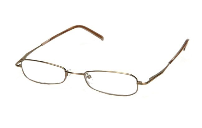 BL2 blue light filter shiny gold frame prescription computer glasses