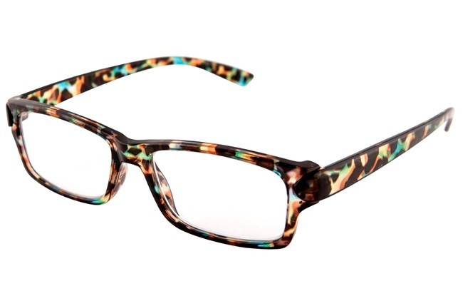 BL3 blue light filter mottled frame prescription computer glasses