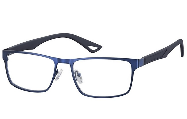 BL6 blue light filter blue frame prescription computer glasses