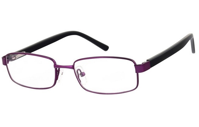 BL7 blue light filter matt purple frame prescription computer glasses