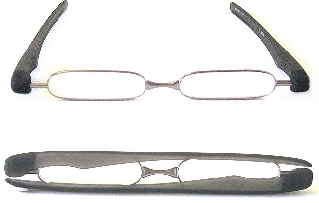 Type FO7 glasses with rotational temples forming a protective case