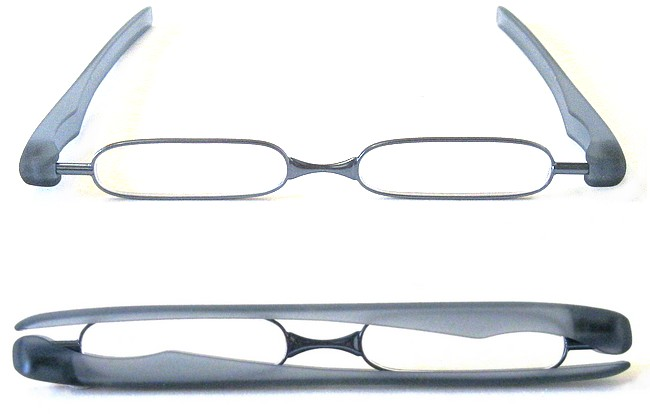 Type FO9 folding glasses with rotational arms that enclose and protect the lens rims