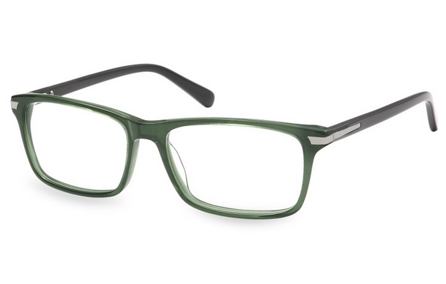 FR6 green acetate frame with flex arms