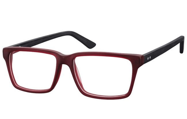 FR8 matt finished burgundy acetate full rimmed frame