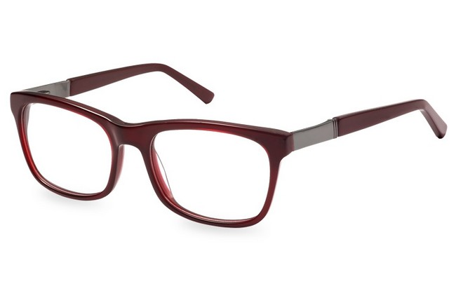 FR9 red acetate full rimmed frame