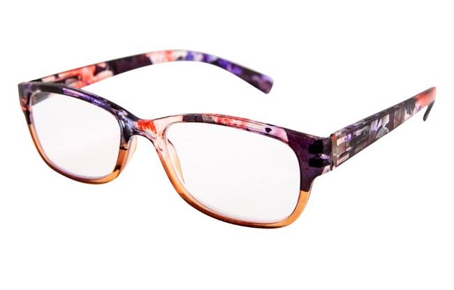FW3 floral frame reading glasses