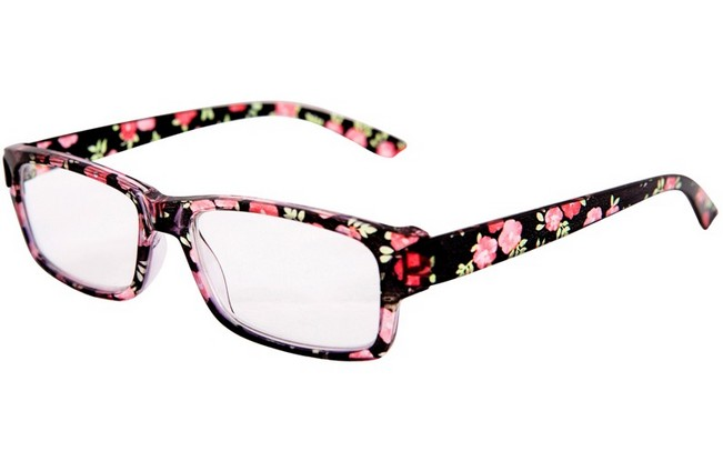 FW4 floral reading glasses