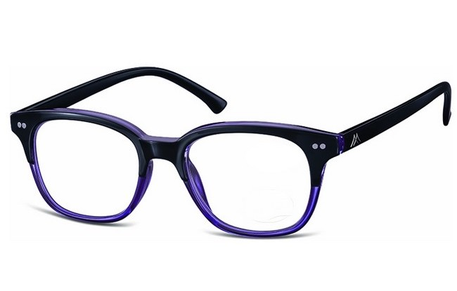 Type MCB black-purple acetate frame reading glasses with large lenses