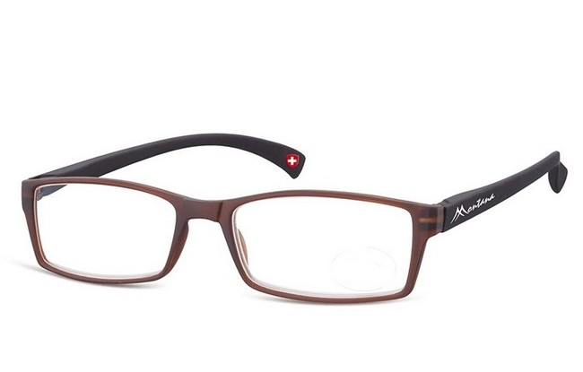 Type MCD black-brown acetate frame reading glasses with large lenses