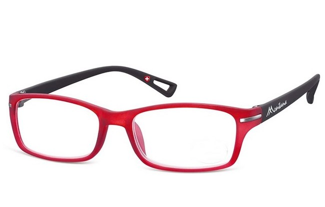 Type MCE black-red acetate frame reading glasses with large lenses