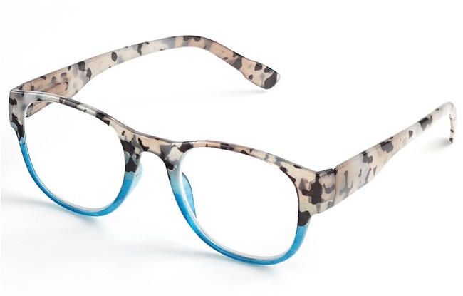multi coloured reading glasses with patterns consisting of