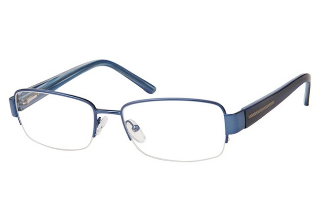 PRB semi-rimless blue frame