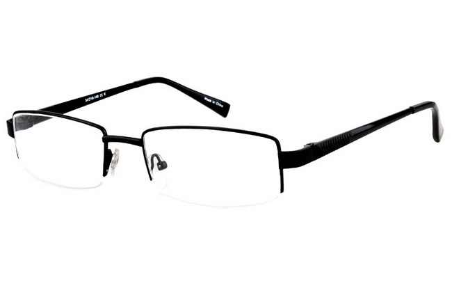 PRF matt black partial rim frame