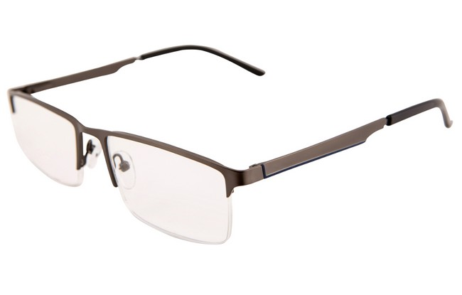 Type PRW partial rim reading glasses with black rims and acrylic arms.