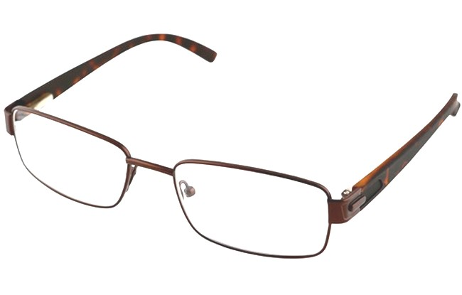 Type RGC dark bronze reading glasses with sprung arms