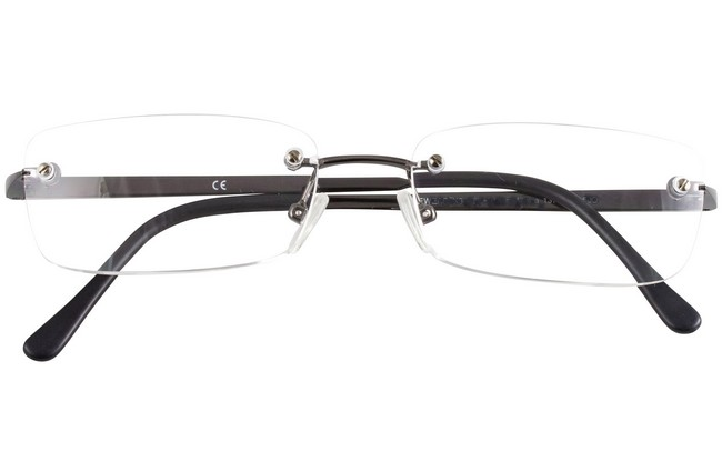 RLW rimless eyeglasses with different dioptre for each eye.