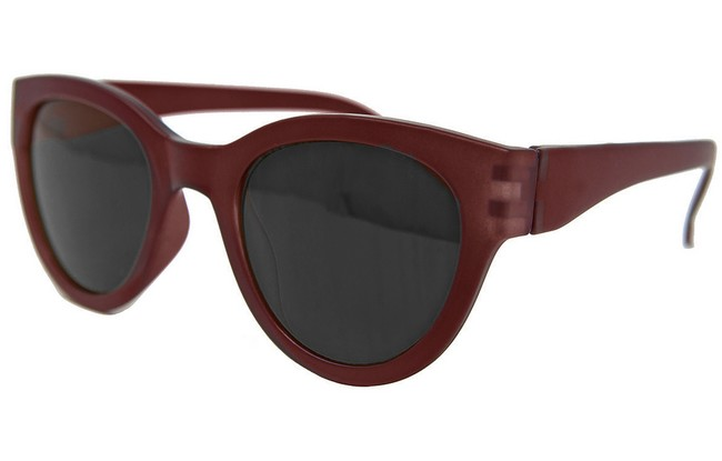 Type SR3 tinted sun readers in black frame and internal fuchsia print