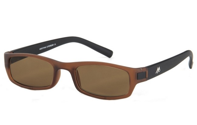 Type SRB reading sunglasses with brown-black frame